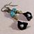 Black Lily Dangle Earrings