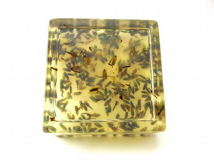 Natural Aloe Vera Soap - Honey & Lavender Buds - 4oz - Sensitive Skin, Itchy