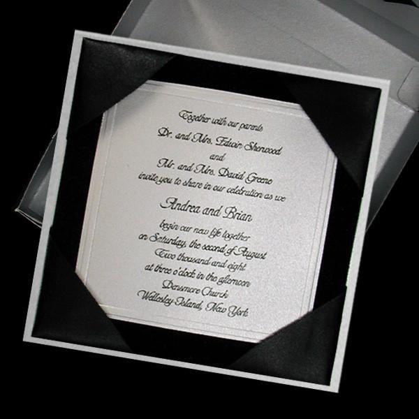 Wedding Gift Etiquette Italy : Wedding invitations, Boxed Couture, Black Velvet and Silver Set of 100 ...