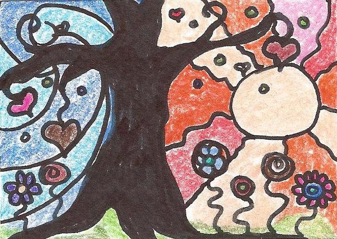 Elation - ACEO abstract landscape