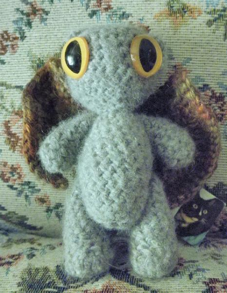 Angora winged kitty, cat , kittyhawk. angel cat, crochet plush, amigurumi