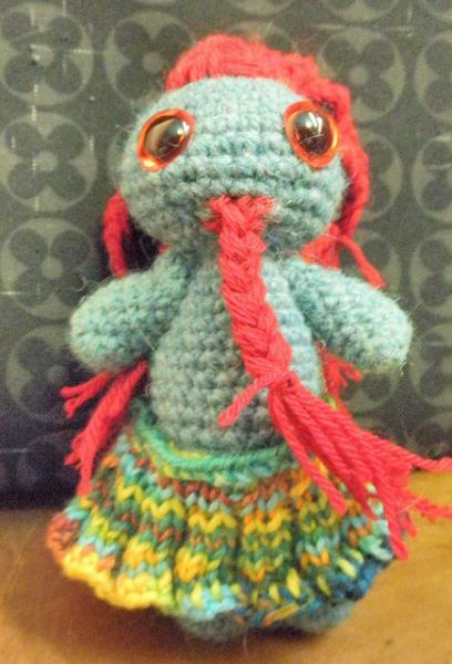 Pixie, Pictsie amigurumi little man, scotsman, pict, crivens