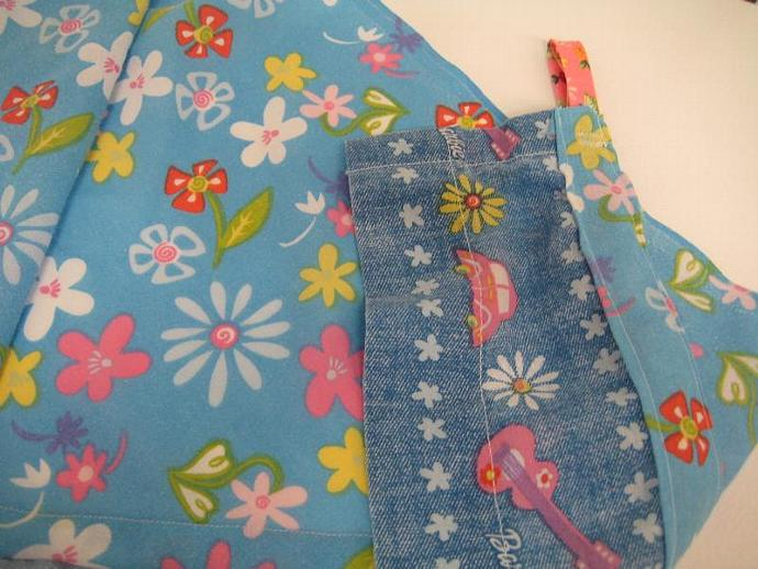 Barbie Flower Power Upcycled Teddy Bed - Size Large with Ruffle