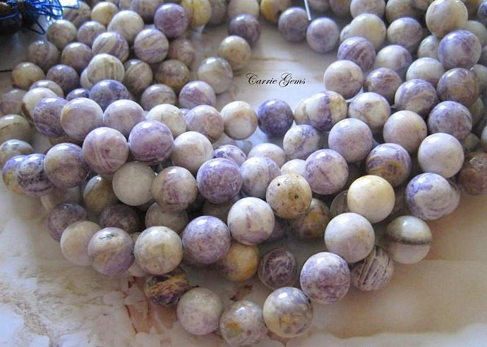"16"" long (33pcs) Garden Sugilite Round 12mm Beads"