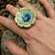 """Pottery Flower Ring (1.5"""" size)"""