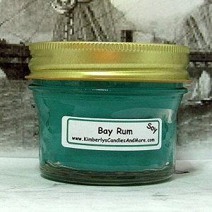 Bay Rum PURE SOY 4 oz. Jelly Jar Candle