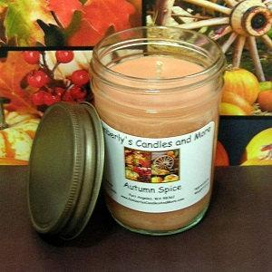 Autumn Spice PURE SOY Jelly Jar Candle
