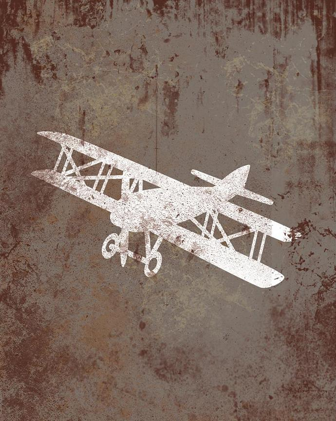 vintage airplane decor 2