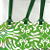 Green with White Whimsy  Tags Set of 3