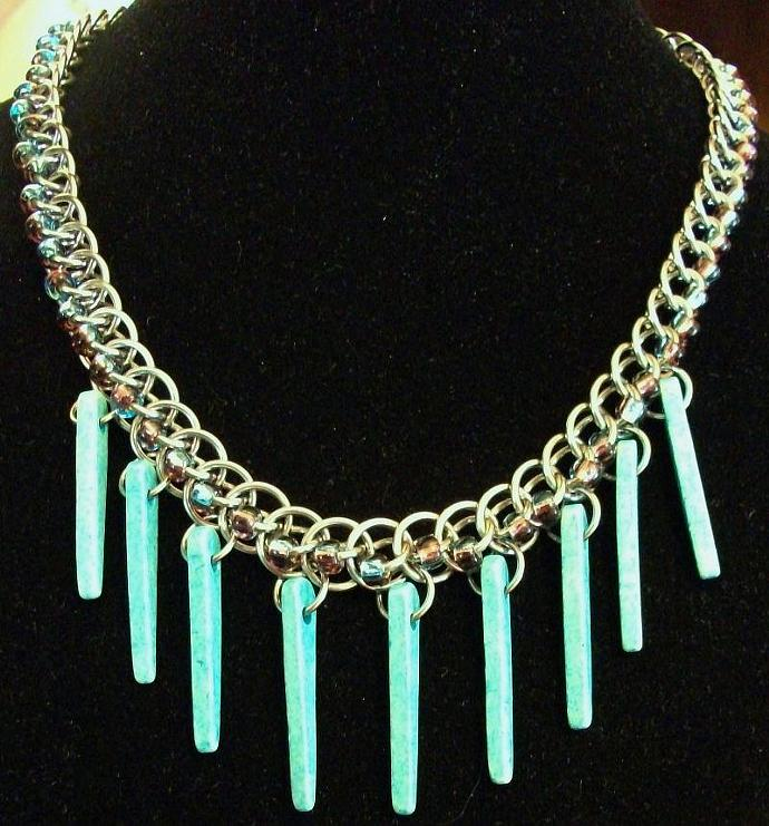 Turquoise Beaded Persian Star