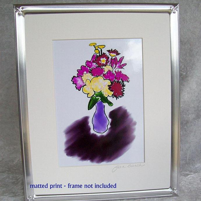 Bright Bouquet Photoprint, 5x7 print matted to  8x10 inches overall