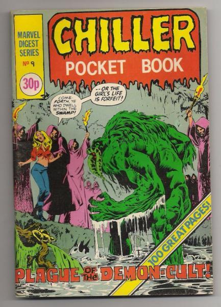 Classic British Horror Comic Book - Chiller Pocket Book 9 Man-Thing