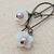 Cherry Blossoms earrings: glass flowers with faux pearl centres on long
