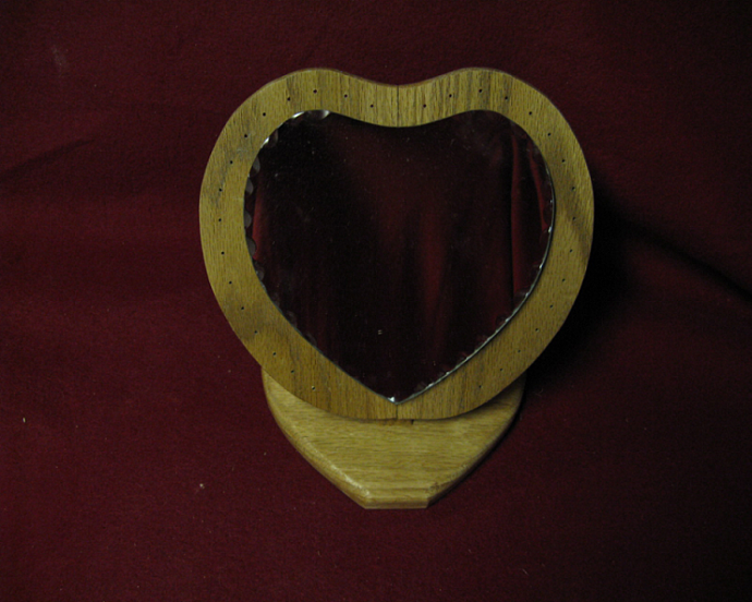 Heart Stud Earring Holder with mirror
