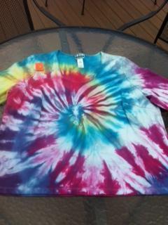 Plus Size 3X Tie Dye Shirt