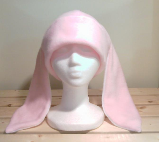PINK / WHITE BUNNY rabbit HAT cosplay ANIME ski