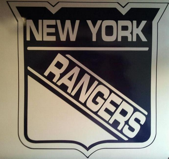 NEW YORK RANGERS Hockey Vinyl Decal Set Of 2 For Cornhole Game Boards / Vehicle