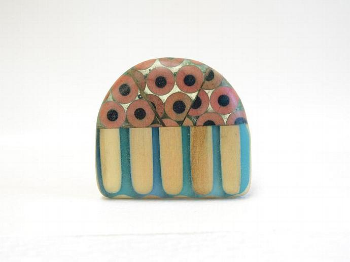 Tiny Observatory Pencil Pin Brooch