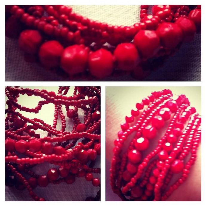 Cute Red beaded bracelets