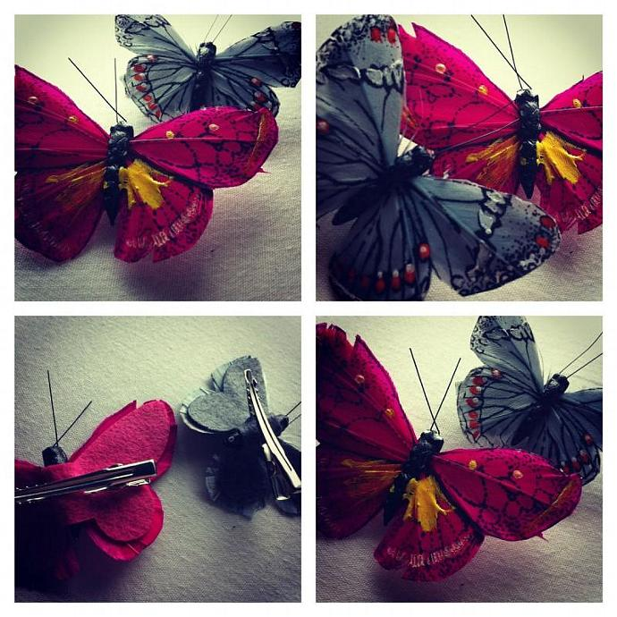 Gorgeous Butterfly Hair Clips