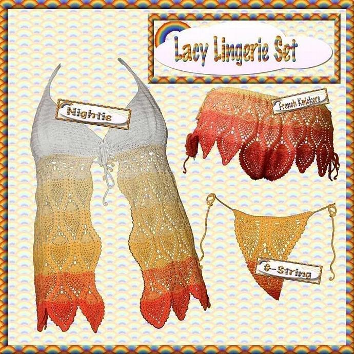 Lacy Lingerie Crochet Pattern pdf