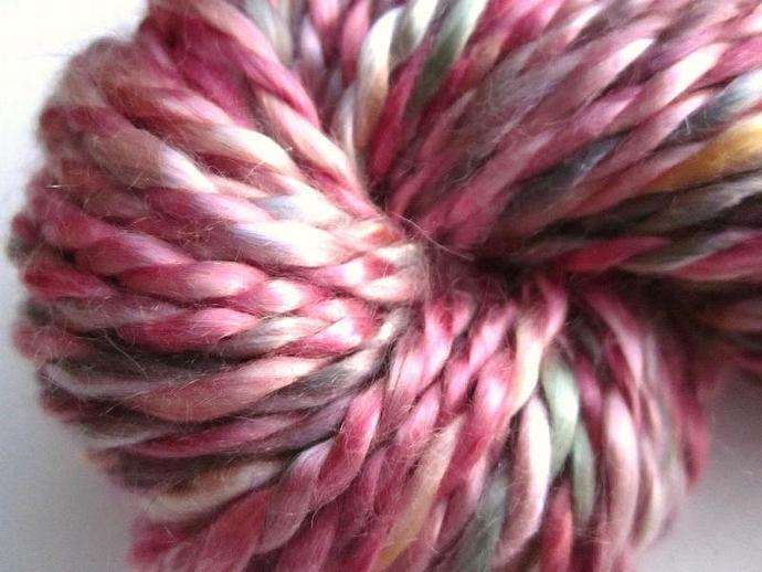 Vegan Handspun Yarn Silky Mulberry Tencel 2-ply