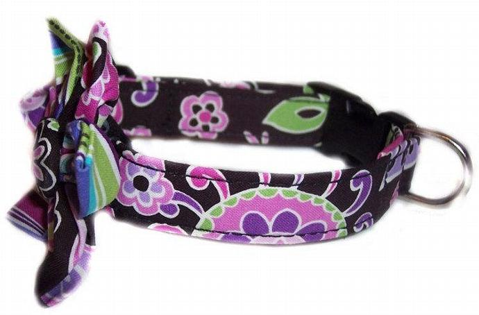 Blossom Flower Lilac Florals dog cat puppy pet collar