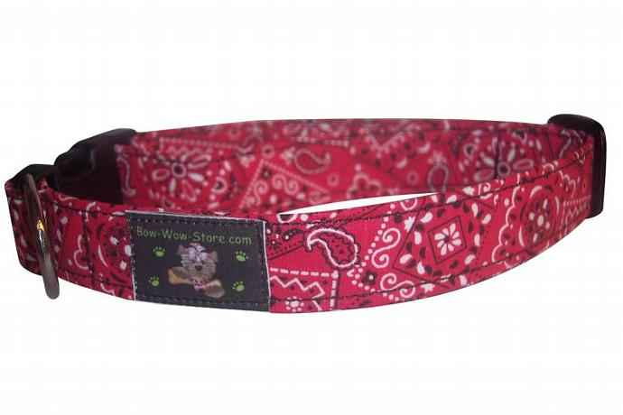 Red Bandana western dog cat pet puppy collar xs sm med lg xl custom made all