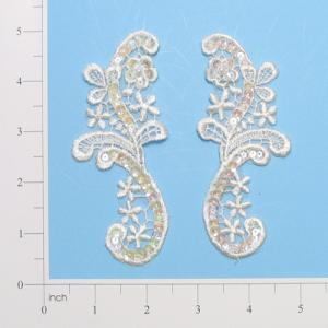 Shabby chic lace and sequin aplique TR3