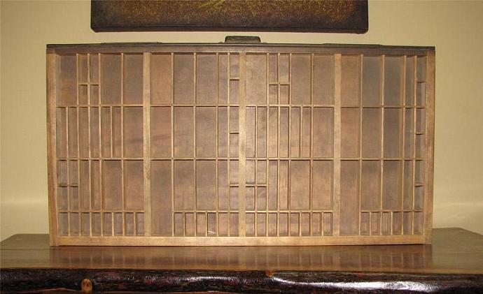 Vintage Oak Hamilton Typesetter Drawers