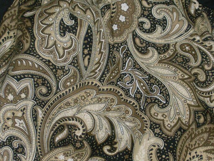 Black and Gold Paisley Peasant Top w/ruffled pants