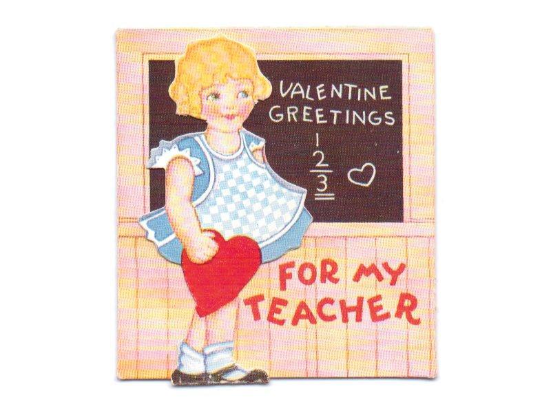 Vintage Valentine Card Vintage – Girl Valentine Cards