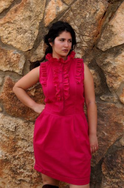 Ruffled Raspberry coctail dress