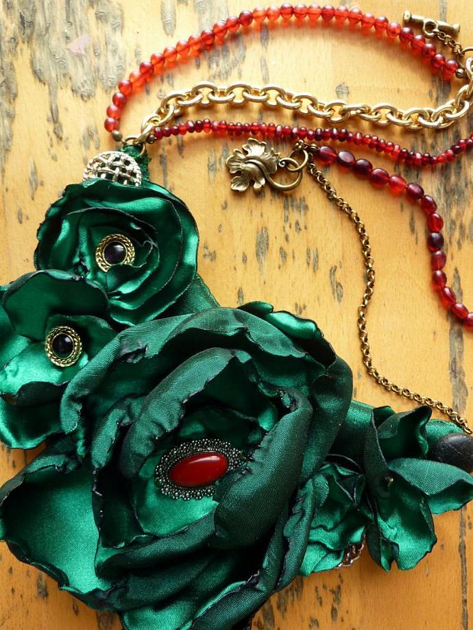 Emerald Allure Statement Bib Necklace