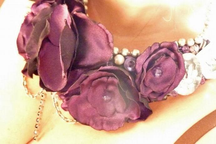 Purple Galore Statement Bib Necklace