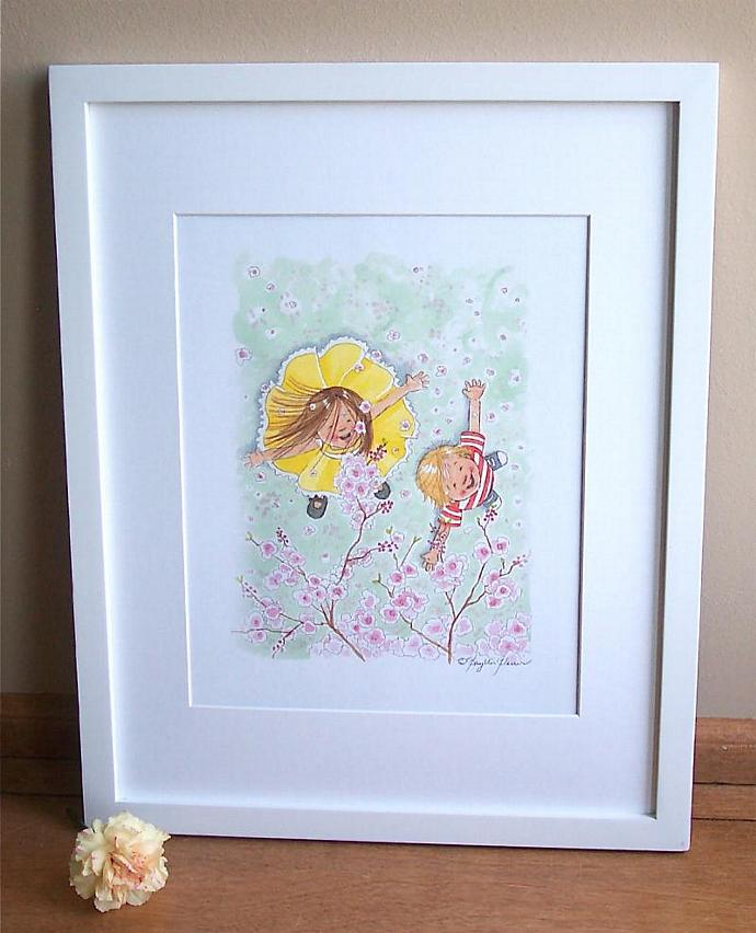 Children's Art Print for children's room - Spring Blossoms