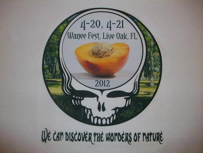 Wanee Fest Furthur Allman Brothers 2012 T shirt