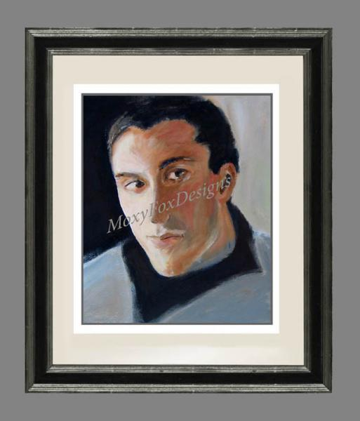 HIS GLANCE Portrait Fine Art Giclee Print Tall Dark Handsome Man Fits 11x14 Inch