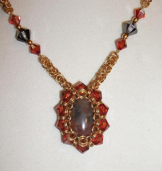 Victorian Crystal Byzantine Necklace