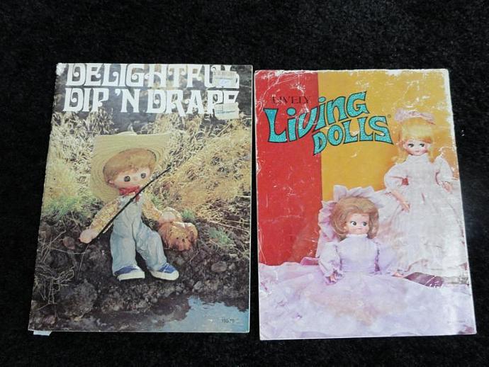 2  Dip' N Drape doll vintage pattern books