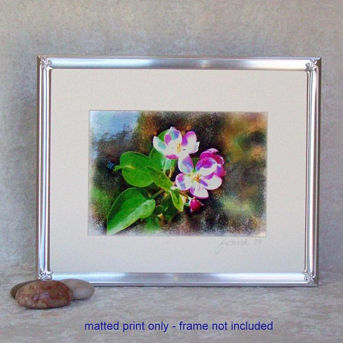Cosmic Blossoms Photoprint, 5x7 print matted to  8x10 inches overall