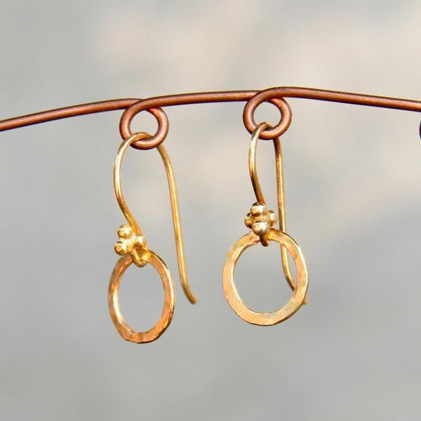 Teeny Gold Circle Earrings