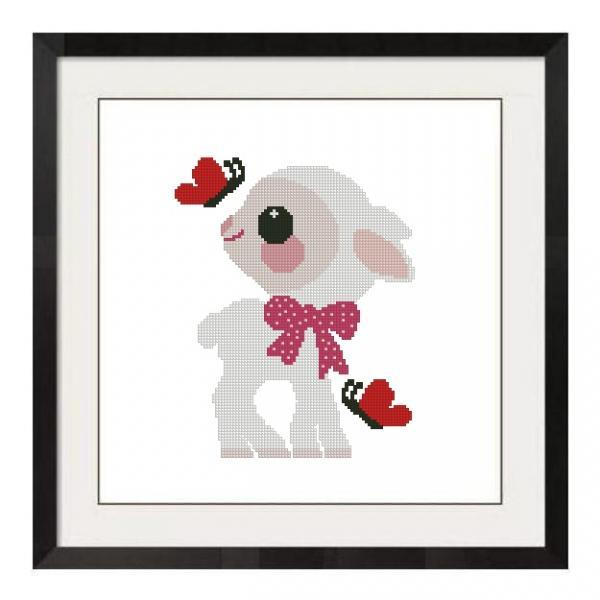 ALL STITCHES - BABY LAMB CROSS STITCH PATTERN .PDF -668