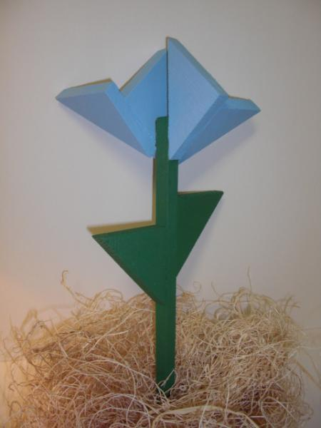 Plant Stake - Wooden Flower