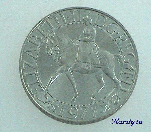 C 547 Elizabeth II Silver Jubilee Commemorative Crown Coin 1977