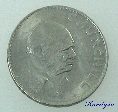 C 550 Elizabeth II Winston Churchill Commemorative Crown Coin 1965