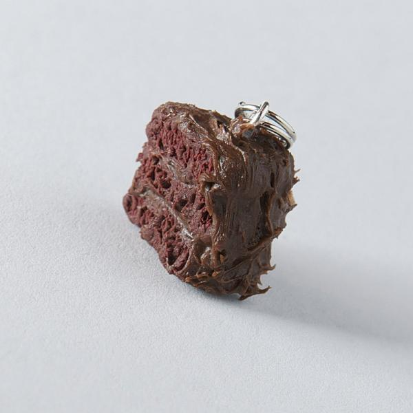 Triple-Layered Chocolate Cake Polymer Clay Charm/Pendant