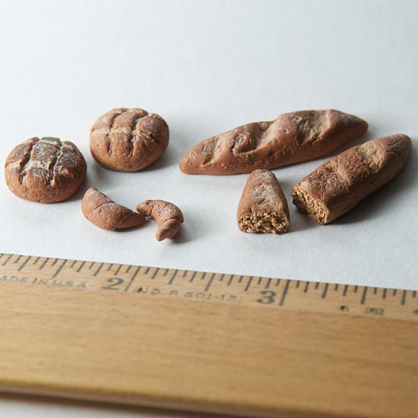 Polymer Clay Dollhouse Miniature Set of Bakery Bread
