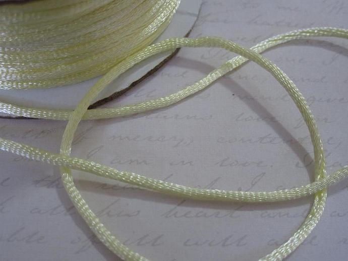 3yds - Baby Maize String Satin Ribbon