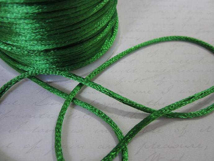 3yds - Emerald String Satin Ribbon